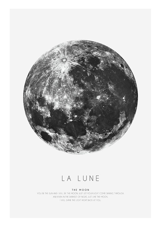Bilder Print Graphic Print With The Moon | Posters Online - Desenio.se