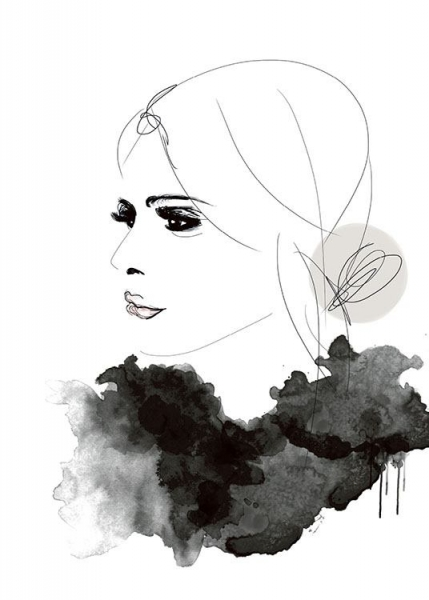 Bilder Print Trendy Fashion Poster With Fashion Illustration, Print