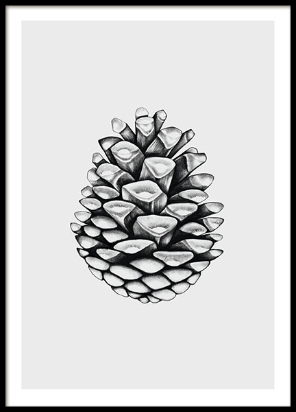 Bilder Print Poster With Black And White Illustration | Poster With A