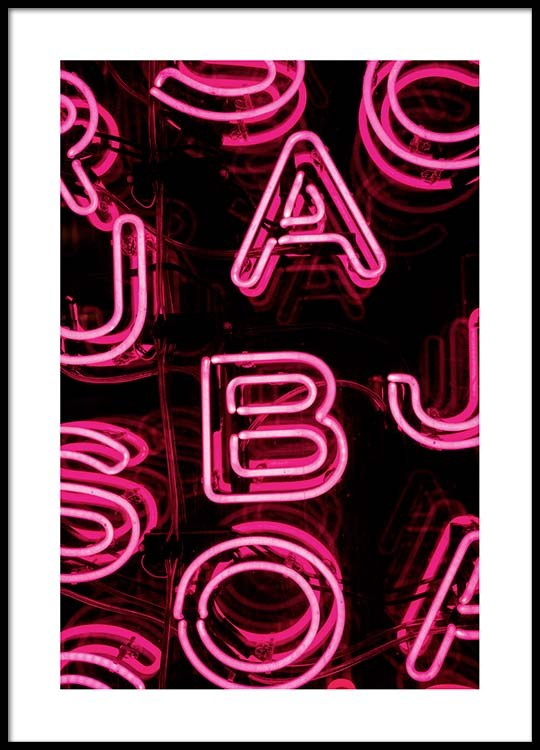 Neon Letters Poster