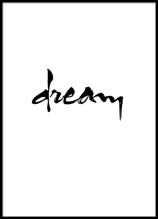 Cleanly designed black and white poster with text