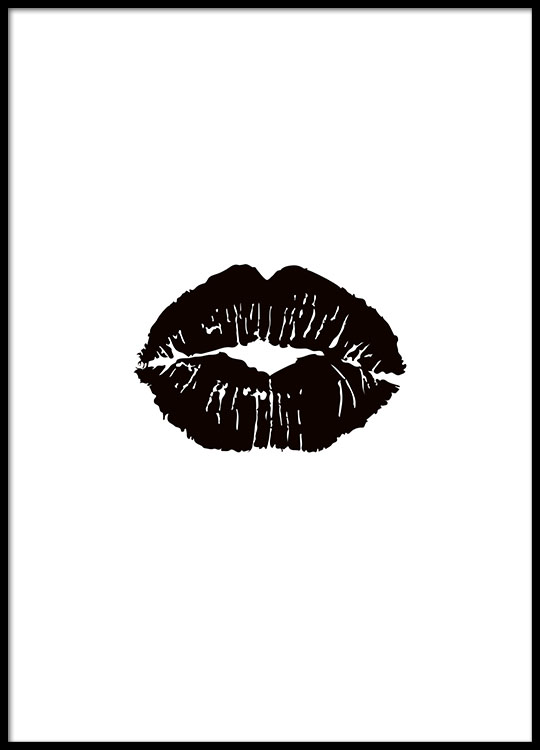 Bilder Print Poster With Black Lips | Stylish Posters Online | Black