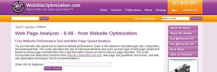 Web Page Analyzer velocidad de carga