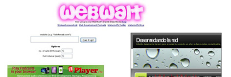Webwait velocidad de carga