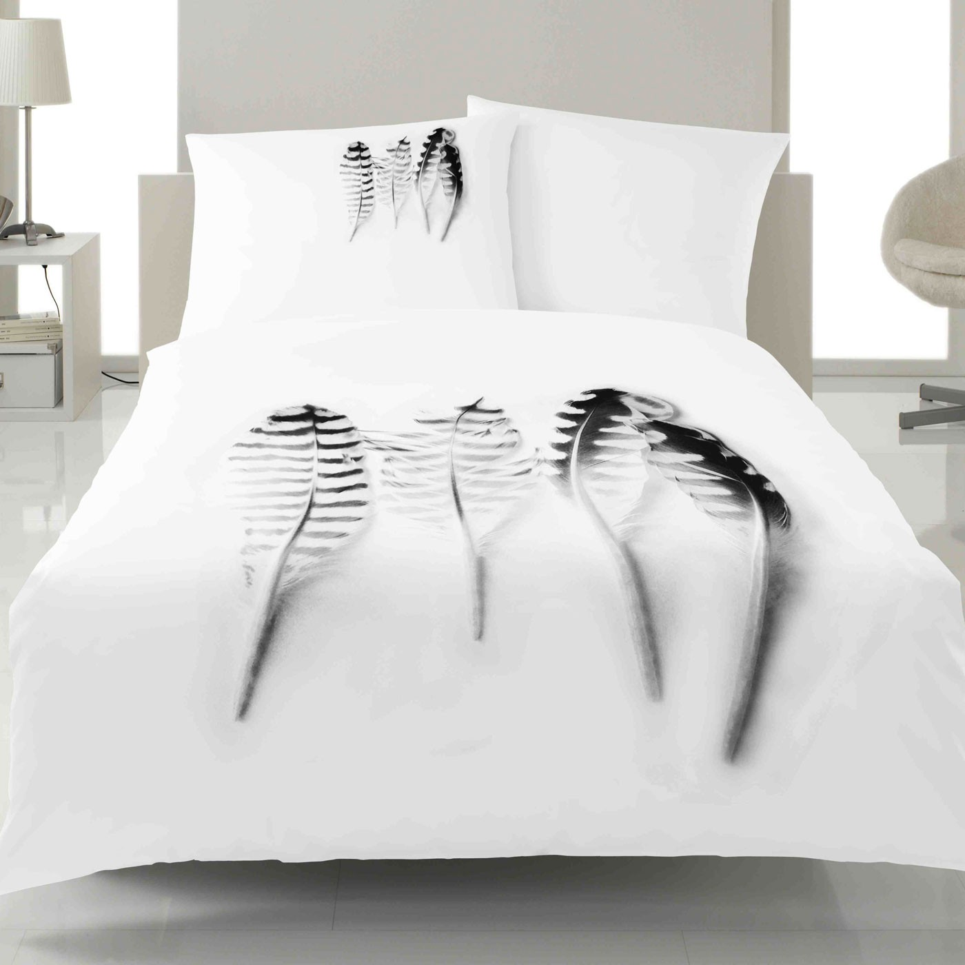 Bettwäsche Design Bettwäsche Yes For Bed Shadow 1447 Weiss