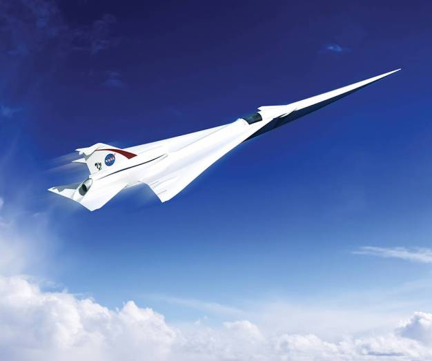 Artist's rendering of NASA's supersonic jet. Image via NASA