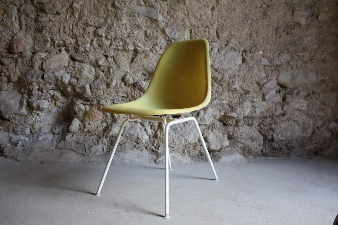 Vitra Stühle Gebraucht Stuhl Charles Eames V Herman Miller Fiberglas Canary Yellow Gelb