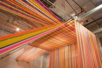 ATELIER E (Megan Gecklers installation in flagging tape...)
