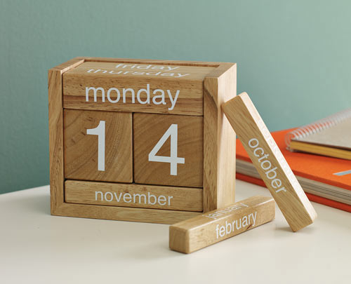 Wooden Perpetual Calendar - Design Milk