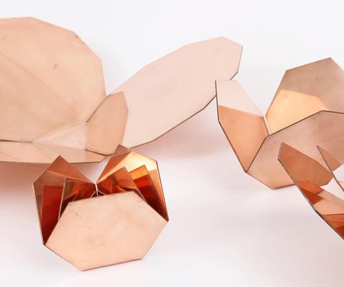 Me-Far Geometric Copper Nesting Bowls by CoWorks - Design Milk