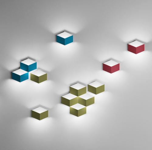 FOLD 3D Cube Sconce by Arik Levy for Vibia - Design Milk