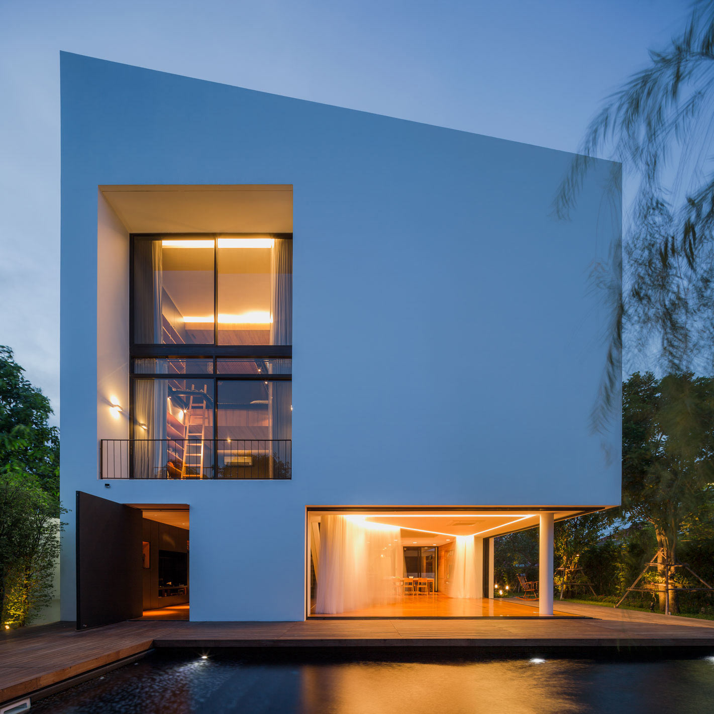 Architectural Design Of Residential Building Modern White House With Integrated Angles And Corners Design Milk
