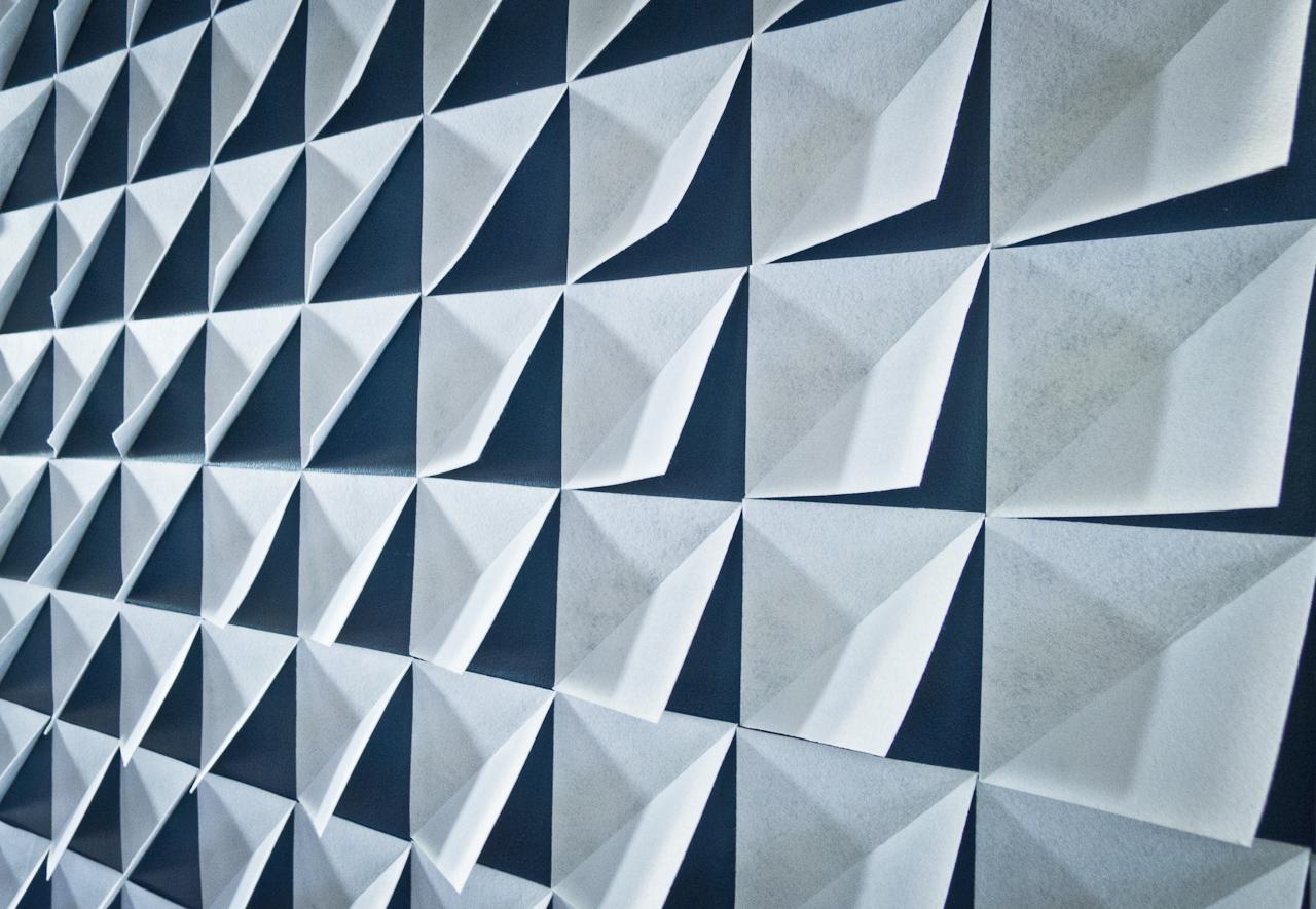 Make it Modern: DIY 3D Felt Wall Panels