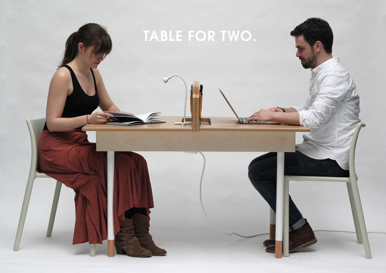 Two Person Dinner Table A Working Desk For Two And A Dining Table For Six Design Milk