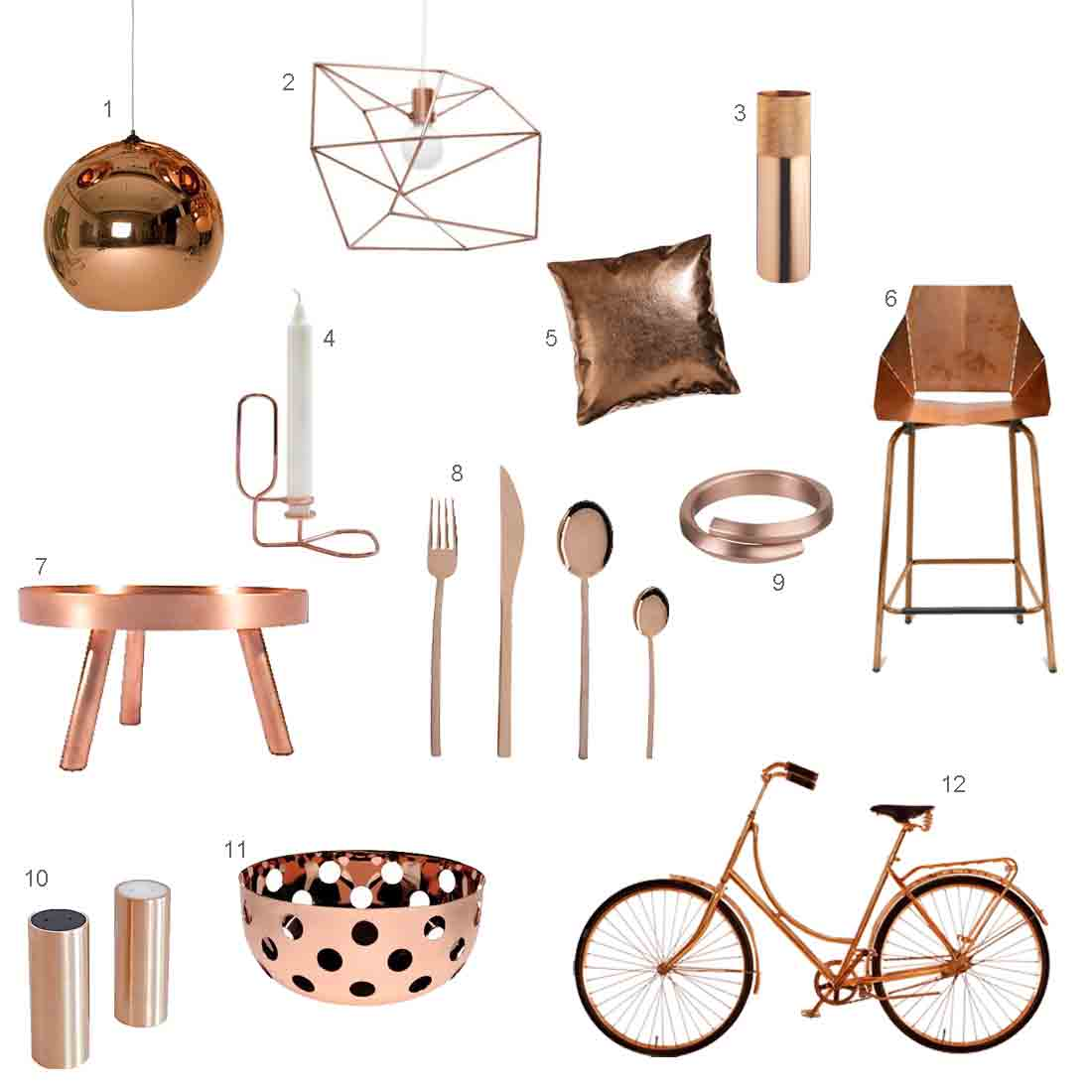 Modern Home Accessories Roundup 12 Modern Copper Accessories Design Milk