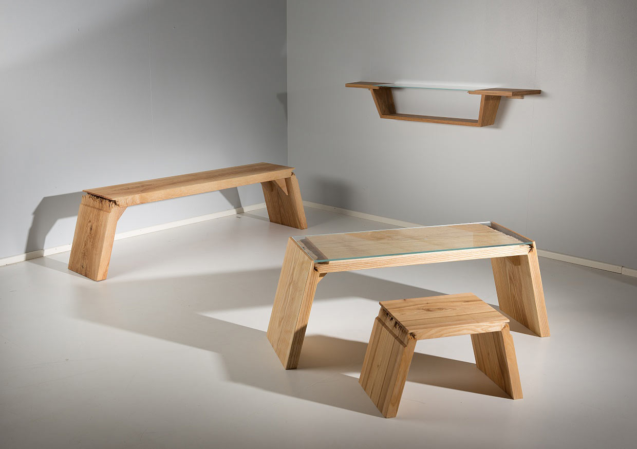 Wood Furniture Design Broken Furniture That Explores The Defects In Wood