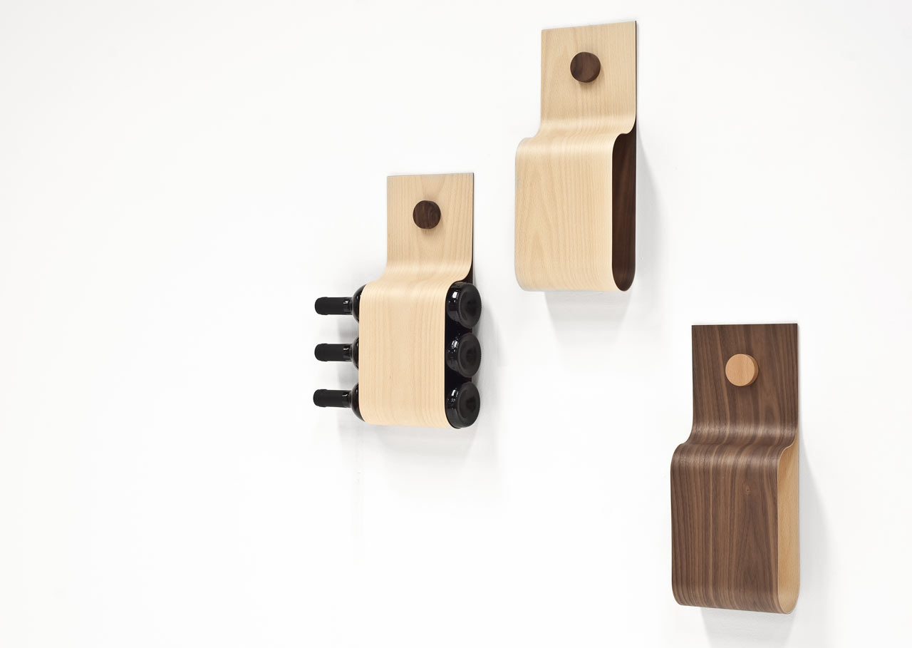 Incurva Modern Wine Rack Or Magazine Holder Design Milk