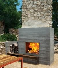 12 Amazing Modern Outdoor Fireplaces - Design Milk