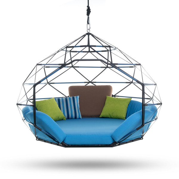 Hamac Rond Kodama Zomes: Hanging Geodesic Seats & Beds - Design Milk