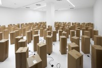Sound & Art Installation Out of Cardboard Boxes - Design Milk