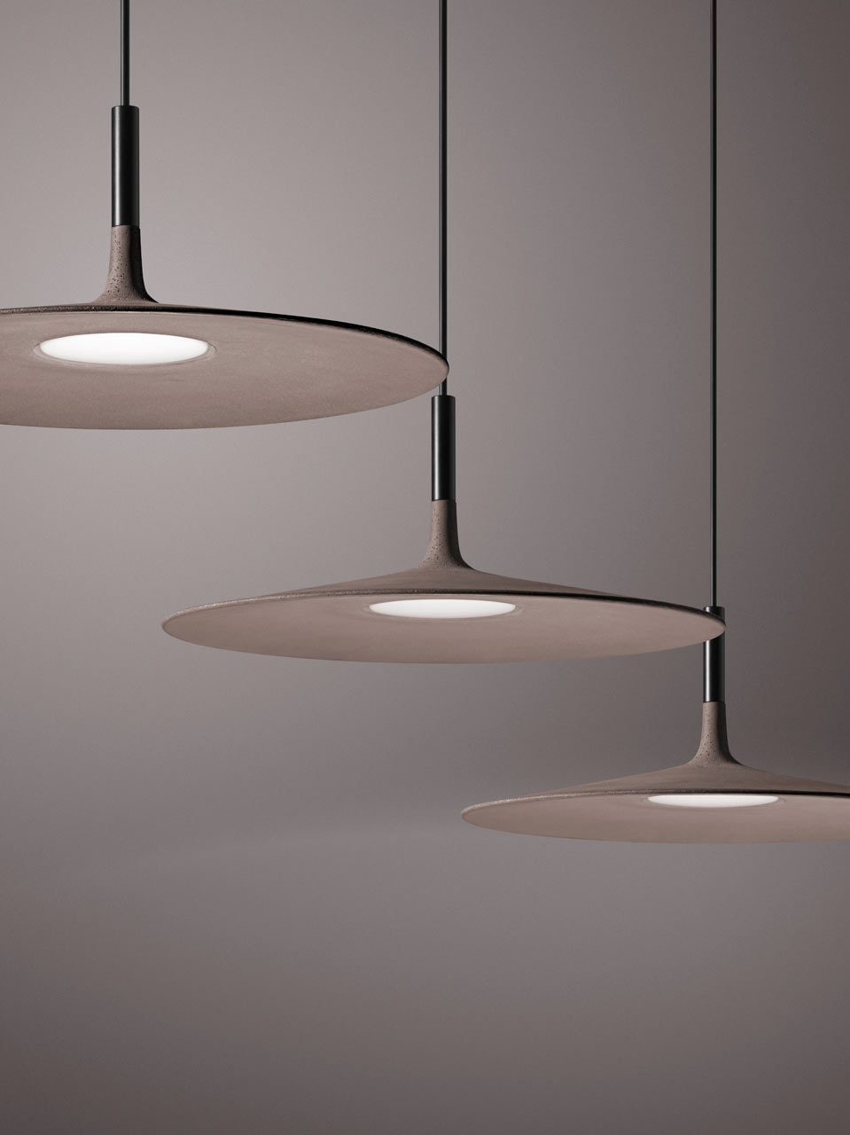 Foscarini Lights A Super Thin Concrete Lamp From Foscarini Design Milk