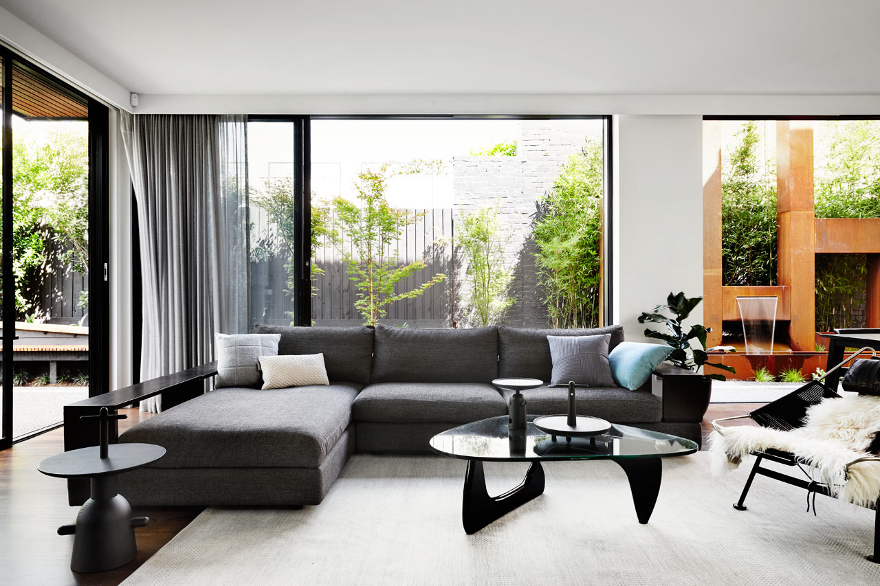 Interior Design Of The House A Contemporary Monochromatic Home In Melbourne By Sisalla