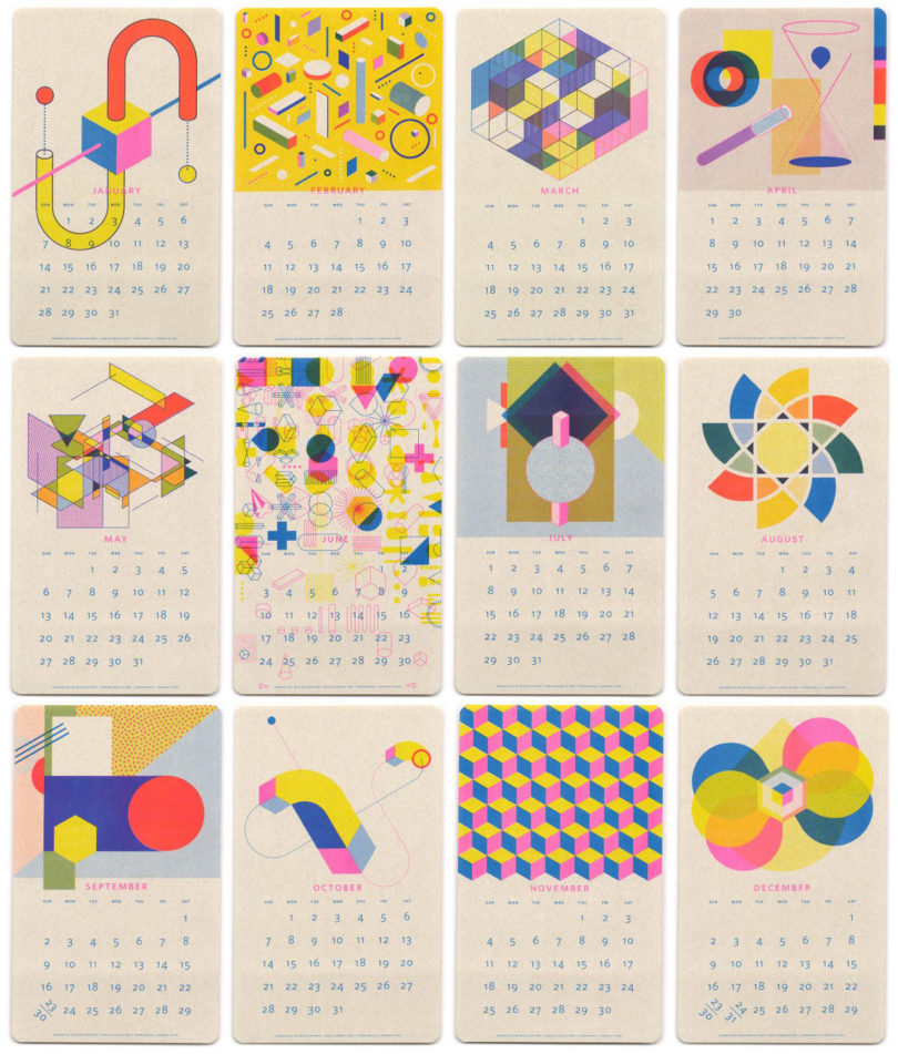 15 Modern Calendars for 2018 - Design Milk