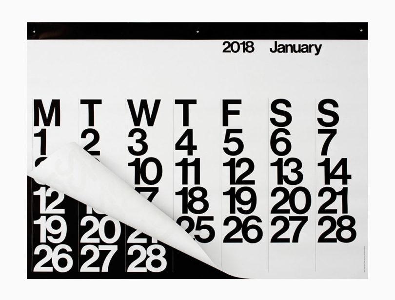 15 Modern Calendars for 2018 - Design Milk