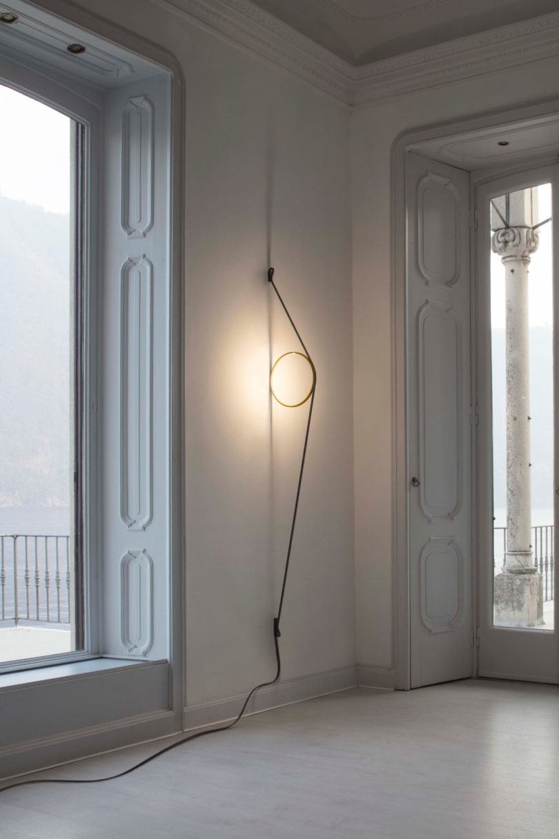 Floor Wire Molding Wirering Is A Sculptural Light That Hovers Between A Wall And A