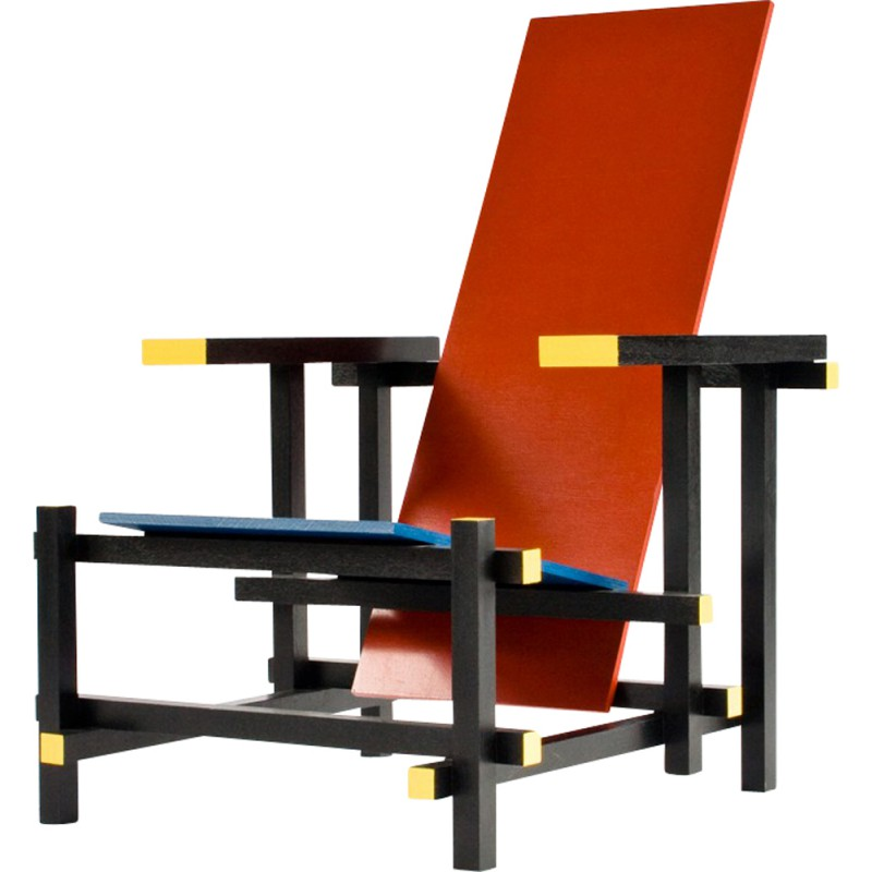 Eames Arm Chair Red And Blue Arm Chair, Gerrit Rietveld - 1930s - Design
