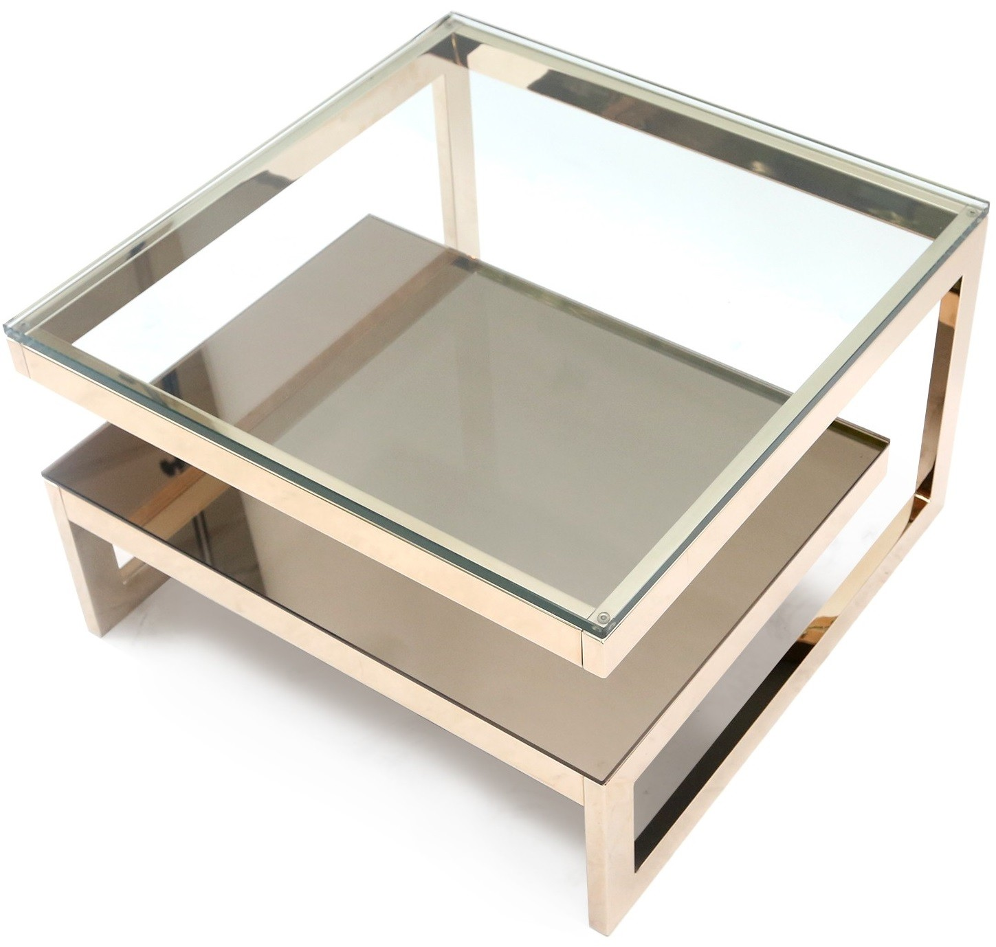 Table Metal Et Verre Mid Century Coffee Table In Golden Metal And Chromed Glass 1970s Design Market