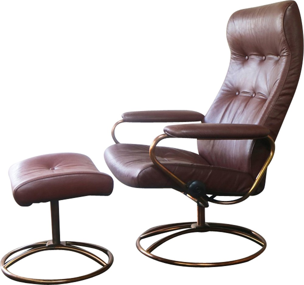 Fauteuil Stressless Nice Vintage Norwegian Reclining Chair And Ottoman By Ekornes Stressless 1970s Design Market