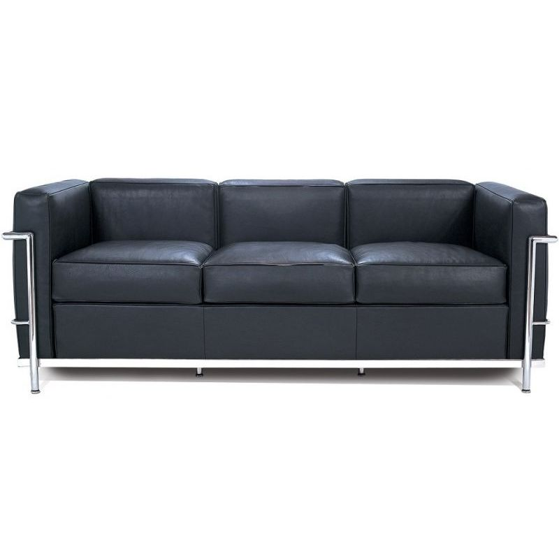 "Sofa Le Corbusier ""lc2"" 3-seater Sofa, Le Corbusier For Cassina - Design Market"