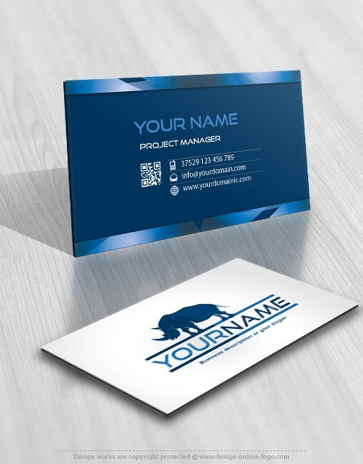 Exclusive Design Rhino Logo + Compatible FREE Business Card