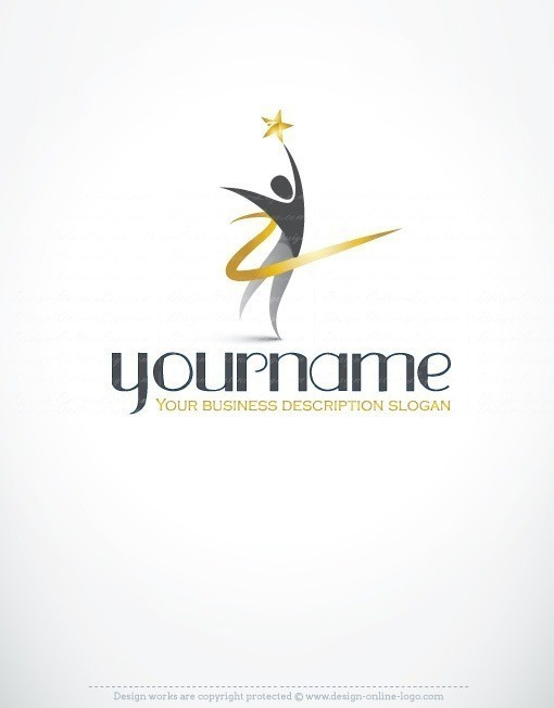 Exclusive Design Human star Logo FREE Business Card
