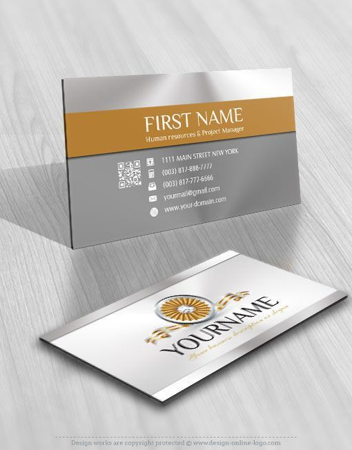 Ribbon diamond Jewelry Logo + FREE Business Card