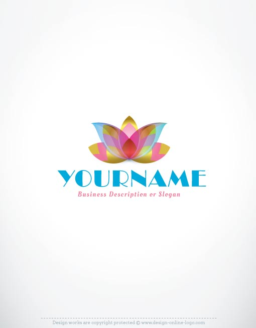 Exclusive company logos - Lotus flower Logo - text logo template