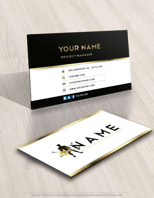 Superhero Logo Design Online FREE Business Cards
