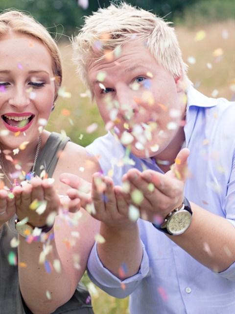 krist.in design forlovelsesbilder photoshoot forlovet konfetti stokkavannet foto stavanger location