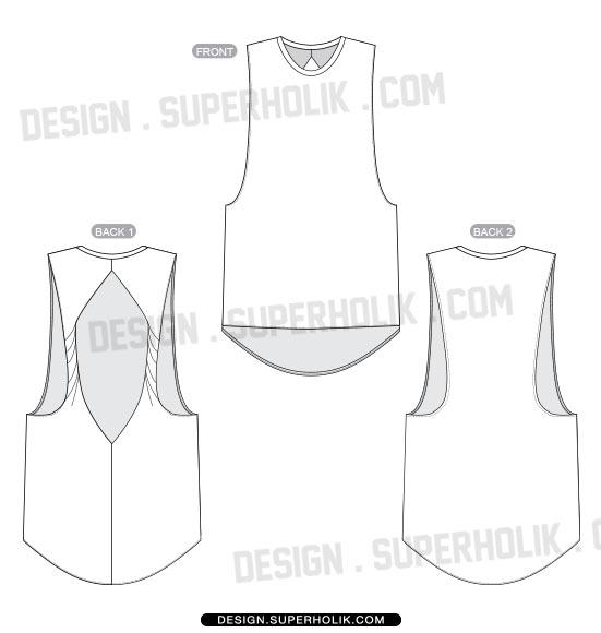 Fashion design templates, Vector illustrations and Clip-artsTANK TOP - blank fashion design templates