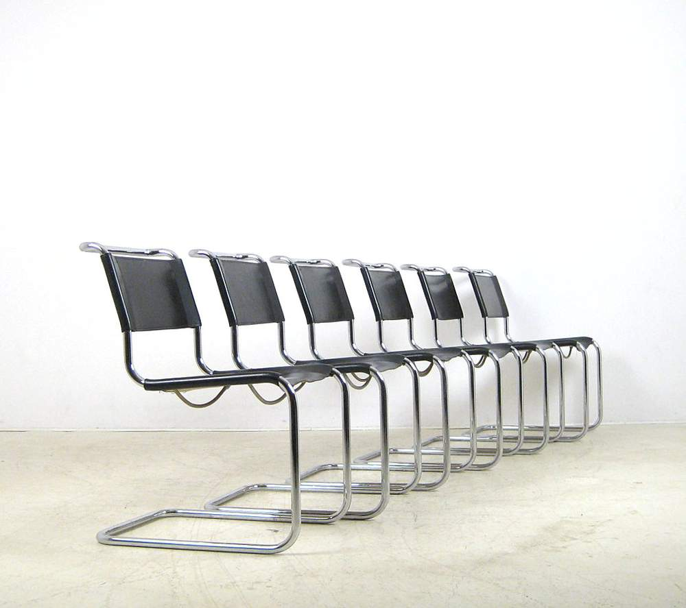 Thonet Jobs Mart Stam A Set Of Tubular Steel Cantilever Chair Model S