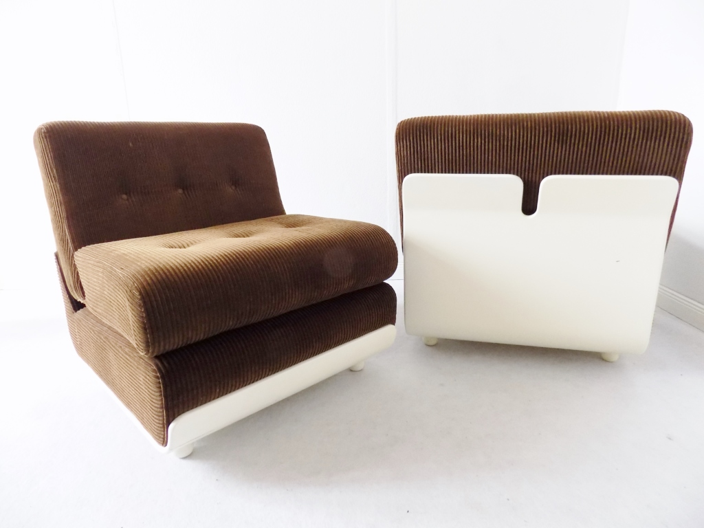 Italian Lounge Chair Set In The Style Of Mario Bellini C B Italia Design Addict Lounge Easy Chairs