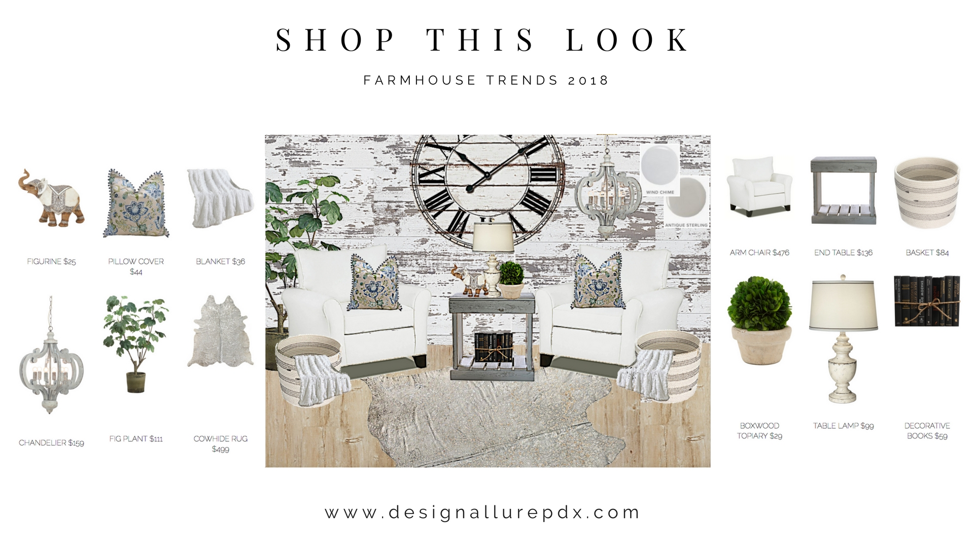 Shop This Look L Farmhouse Interior Design L Home Staging L Portland Lake Oswego Hillsboro Beaverton
