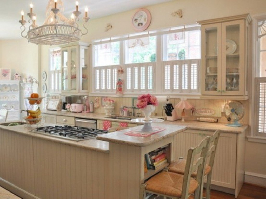 Pastel Pink Kitchen Accessories Cucine Shabby Chic Accessori E Mobili Con Foto Per