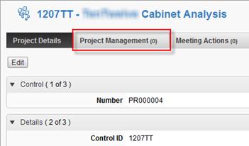 Autodesk PLM 360 Project Management Tab
