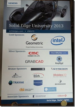 Solid Edge University 2013 Sponsor