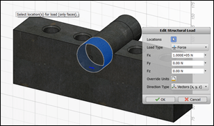 Autodesk Sim 360 Setup Edit Loads
