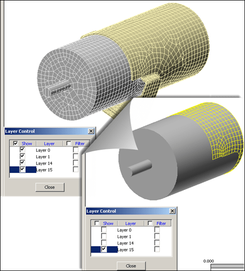 Autodesk Simulation Mechanical Layer 15 contact surface