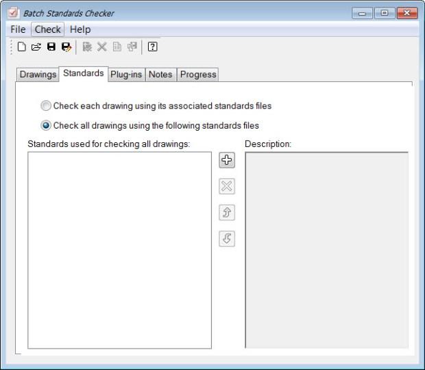 AutoCAD Batch Stds Checker - Standards Tab