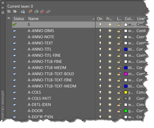 AutoCAD Layer Dialog